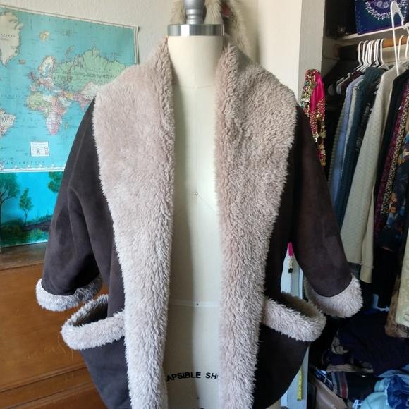 Jolt Jackets & Blazers - Faux Suede & Fur Crop coat by Jolt
